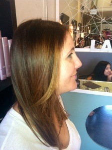 Balayaged highlights for summer!
