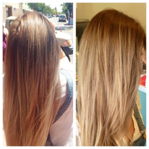 Refreshed soft balayage blonde