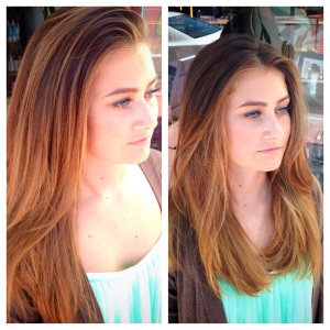 Sun kissed balayage highlights